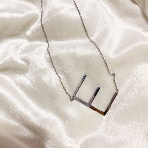 Jewelry - NEW Silver Initial E big letter necklace